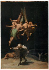 Francisco de Goya, Witches in the Air, 1797, Museu Nacional del Prado, Madrid, Espanha.