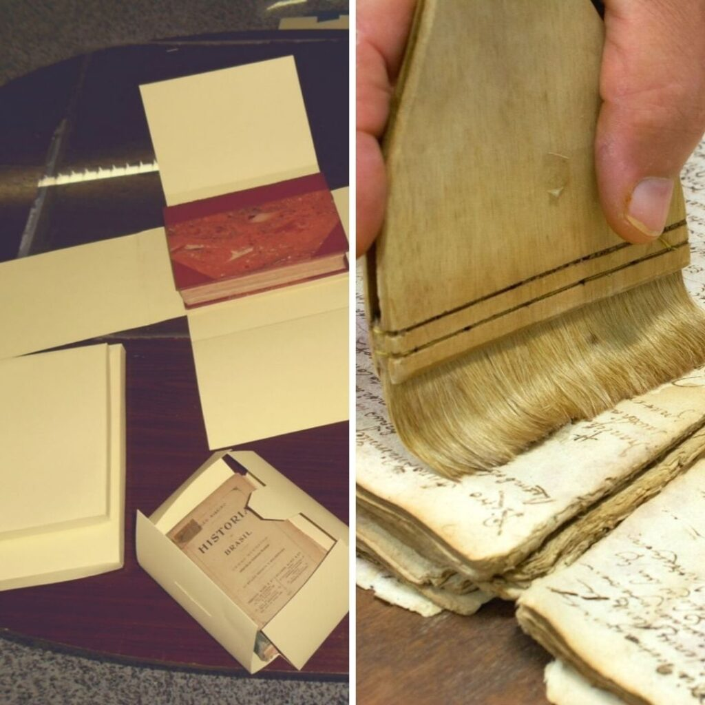 conservação de livros e documentos