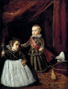 retrato del Príncipe Baltasar Carlos con un enano